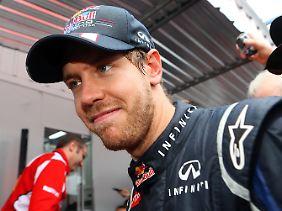 Immer wieder emotional: Auch nach dem dritten WM-Titel kamen Sebastian Vettel die Tränen, vor Freude und Erleichterung.