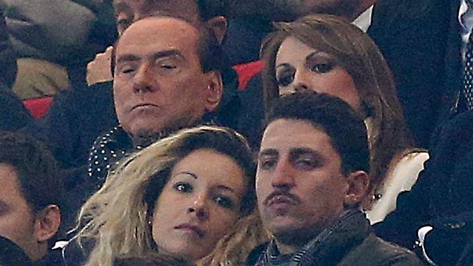 Berlusconi am vergangenen Sonntag beim Fußballspiel Juventus Turin gegen den AC Milan.