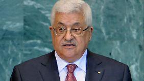 Abbas vor der UN-Vollversammlung.