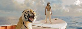 """""""Life of Pi"""" von Ang Lee erzählt die Geschichte eines jungen Inders, der nach einem Schiffbruch in einem Rettungsboot landet - zusammen mit einem Tiger."""