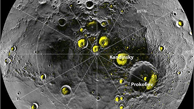 Laut Experten soll sich das Eis in den tiefen Kratern des Planeten gegen die Hitze der Sonne behaupten können.