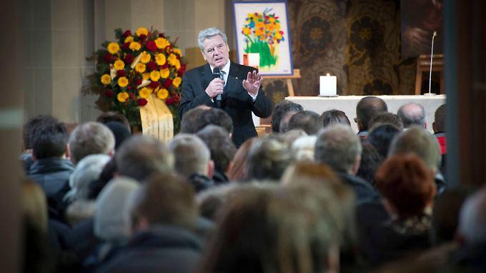 Joachim Gauck würdigte den Zusammenhalt, der durch die Trauer im Schwarzwald entstanden ist.