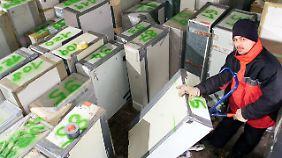 Entsorgung von Nachtspeicheröfen in einer bayerischen Firma.