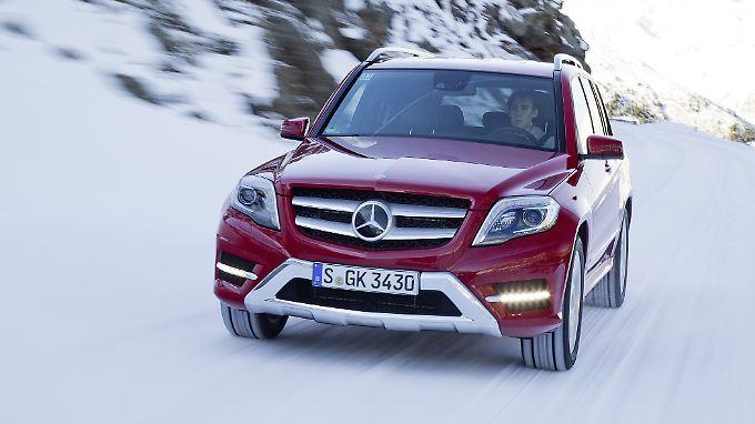 Immer mehr Mercedes-Modelle werden über alle vier Räder angetrieben.