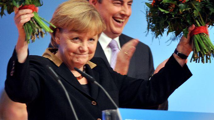 Angela Merkel erhält fast 98 Prozent der Stimmen - so viele wie nie zuvor.