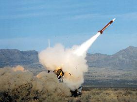 Abschuss eines Patriot-Lenkflugkörpers im Rahmen einer Übung.