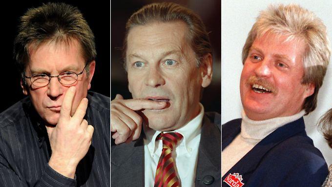 """Gelten als sichere Dschungel-Kandidaten: Arno """"Dagobert"""" Funke, Helmut Berger und Klaus Baumgart (v.l.n.r.)."""