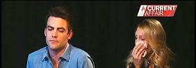 Michael Christian and Mel Greig erklären sich vor der Kamera.
