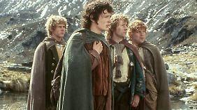 """Vier Hobbits standen allerdings bereits in """"Der Herr der Ringe"""" im Mittelpunkt."""