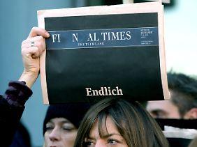 """Letzte Ausgabe der """"Financial Times Deutschland""""."""
