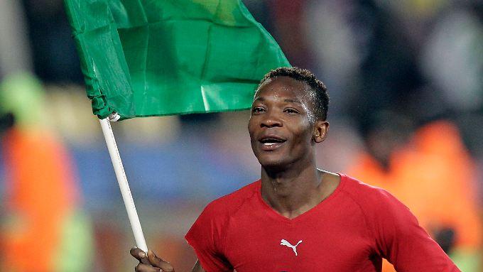Siegen für Afrika: Ghanas John Pantsil und seine Mannschaft spielen heute gegen Uruguay.