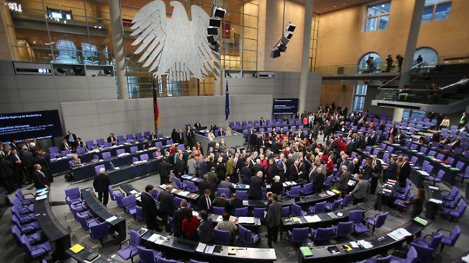 Bei der Abstimmung im Bundestag.