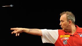 """Phil """"The Power"""" Taylor in Aktion"""