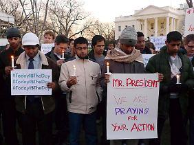 Protest vor dem Weißen Haus.