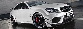 Aus Schwarz wird Weiß: Väth verleiht C63 AMG Flügel