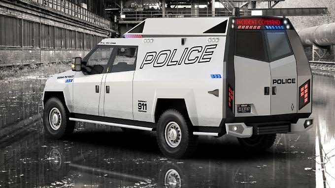 Mit 114.000 Euro soll der Carbon TX7 auch für kleinere US-Polizeibehörden erschwinglich bleiben.