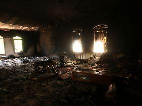 US-Konsulat in Bengasi nach dem Anschlag.