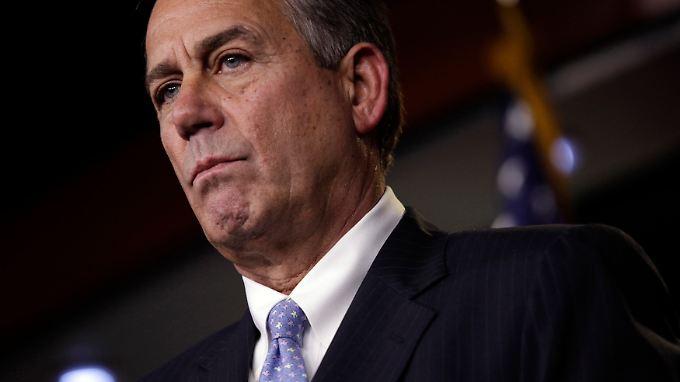 John Boehner bekommt nicht einmal bei seinen eigenen Leuten eine Mehrheit zusammen.