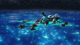 So schön sich der Ozean manchmal auch zeigt - Pi kämpft ums Überleben.