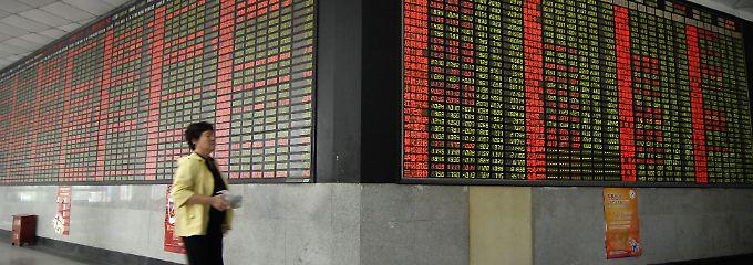 An der Shanghaier Börse.