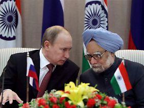 Putin und Singh: gut geöltes Bündnis.
