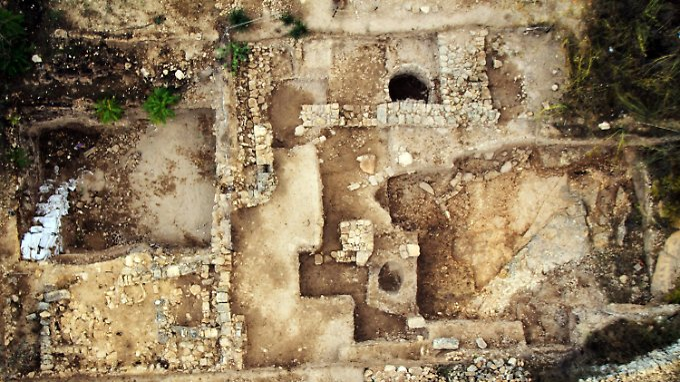 Blick auf die Ausgrabungsstätte Tel Motza westlich von Jerusalem.
