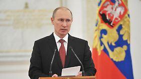 Putin muss das Gesetz nur noch unterschreiben.