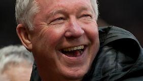Manchester United feiert in dieser Saison regelmäßig den Tag des offenes Tors. Sir Alex Ferguson ist trotzdem happy.