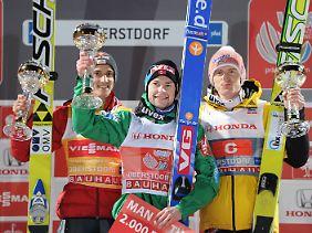 Nur Anders Jacobsen und Gregor Schlierenzauer lagen in Oberstdorf vor Freund.
