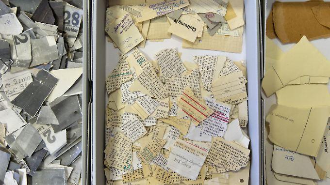 Auch die Rekonstruktion zerschredderter Akten gehört nach wie vor zur Aufgabe der Stasi-Unterlagen-Behörde.