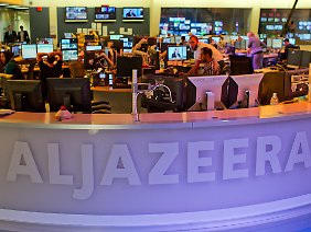 Sitz in Doha: Der Newsroom von Al-Dschasira (Archivbild).