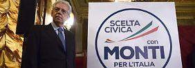 Monti hatte die Regierung inmitten der Finanzkrise im November 2011 vom mehrfachen Ministerpräsidenten Berlusconi übernommen.