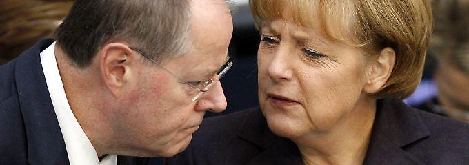 Das war im September 2008. Damals war Steinbrück Merkels Finanzminister.