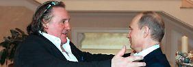 Putin freut sich über PR-Coup: Depardieu ist jetzt Russe