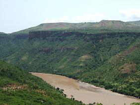 Der Blaue Nil in der Nähe von Bahir Dar.