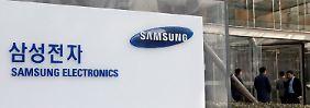 Große Zufriedenheit am Samsung-Hauptsitz in Seoul.