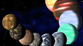 """Die künstlerische Illustration zeigt die Vielfalt von Planeten, die von der NASA-Sonde """"Kepler"""" entdeckt wurde."""