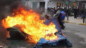 In Griechenland gab es bis Ende Dezember noch Proteste gegen die Reformen  in dem Land.