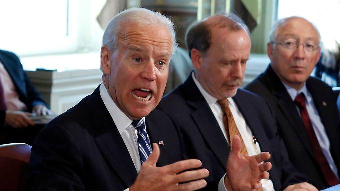 Biden während des Gesprächs mit den NRA-Vertretern im Weißen Haus. Er scheint es ernst zu meinen.