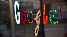 Google-Logo an einer Niederlassung des Konzerns in New York.