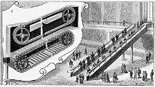 Nützliches Personenförderband: Die Rolltreppe wird 120