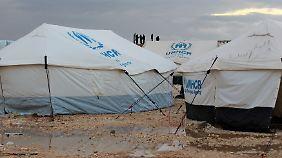 Ein Flüchtlingslager des UNHCR in Jordanien.