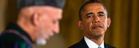 Karsai bei Obama: USA beschleunigen Abzug