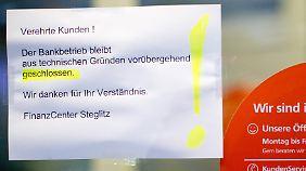 Auf ungewisse Zeit wird die Filiale in Berlin-Steglitz geschlossen bleiben.