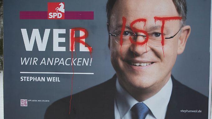 Jenseits der Stadtgrenzen von Hannover fällt die Bekanntheit von Stephan Weil deutlich ab.