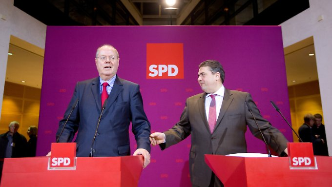 Die SPD macht mit dem Spitzenkandidat Steinbrück weiter.