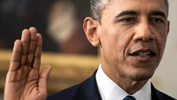Barack Obama schwört auf die Bibel.