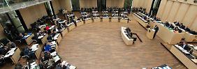 Blick in den Sitzungssaal des Bundesrates in Berlin.