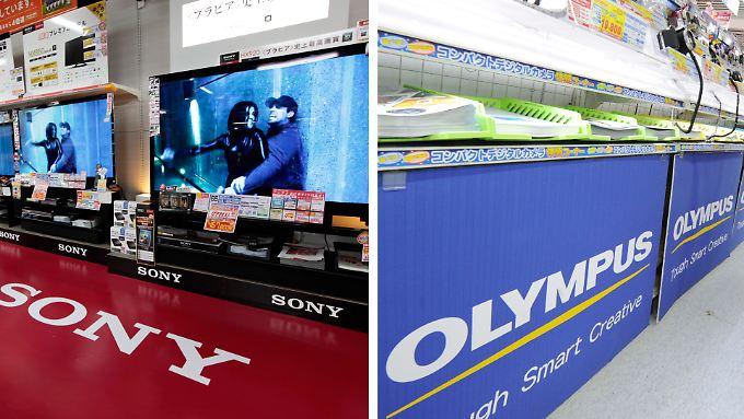 Sony und Olympus: Zwei Werte, die am japanischen Aktienmarkt gegen den Trend zulegen können.
