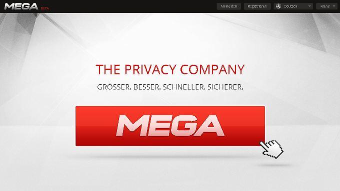 """Sicherheit ist das Schlagwort bei """"Mega""""."""